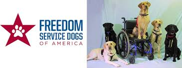 All proceeds donated to Freedom Service Dogs of America