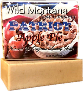 Supporting veteran's causes - Patriot Apple Pie bath soap - Wild Montana Soap Company