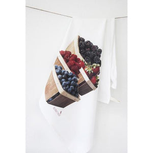 Mixed Berries Tea Towel and Strawberries & Cream Soap Gift Set - Wild Montana Soap Company