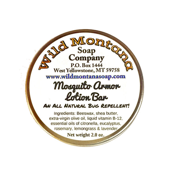 Mosquito Armor Lotion Bar Natural Insect Repellent 🦟 - Wild Montana Soap Company