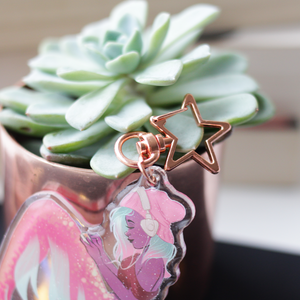 Quiet Time Mermaid Glitter Charm