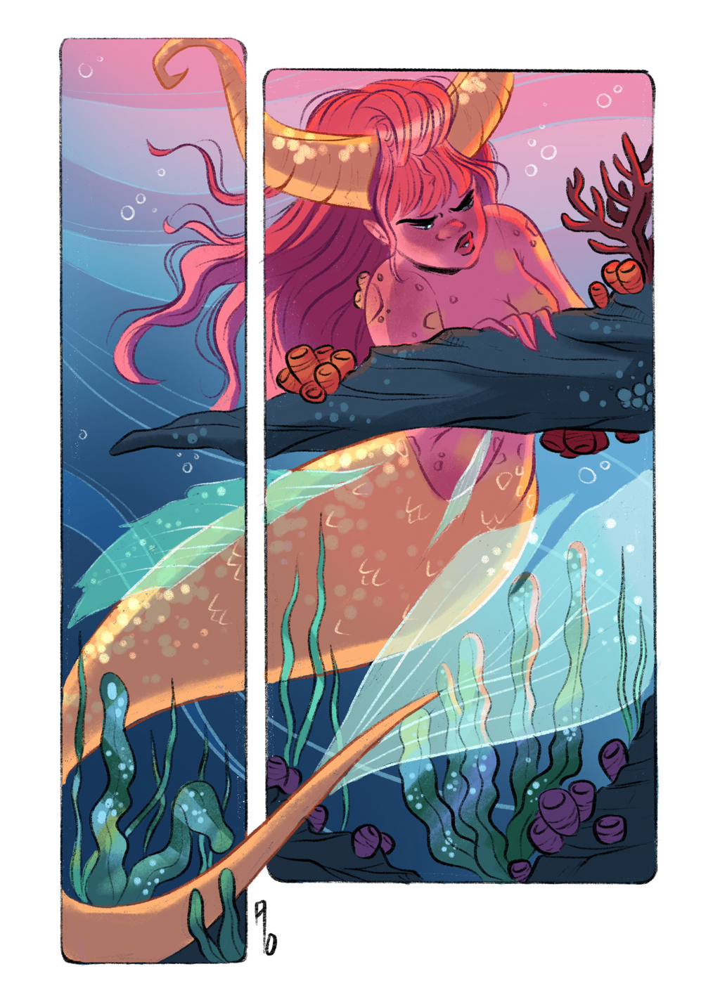 Mermay 2019 no.1 - A5 Art Print