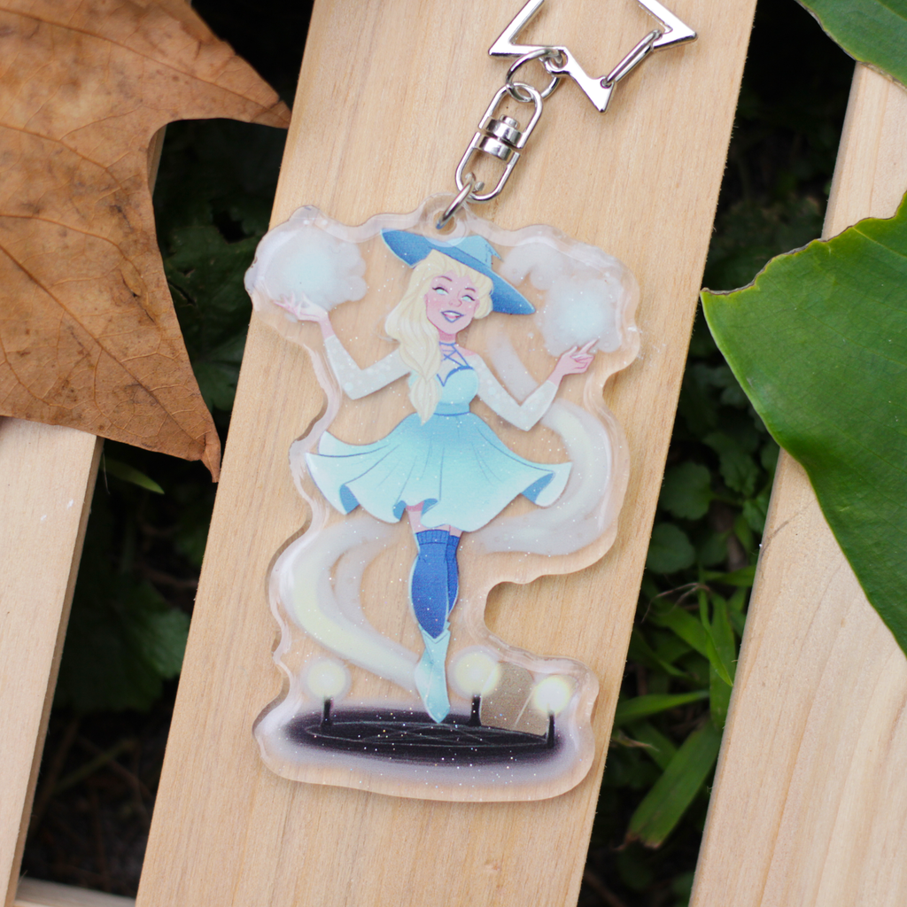 Ice Witch Glitter Charm
