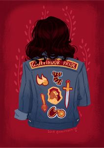 House of Courage and Nerve - Jacket Art Print