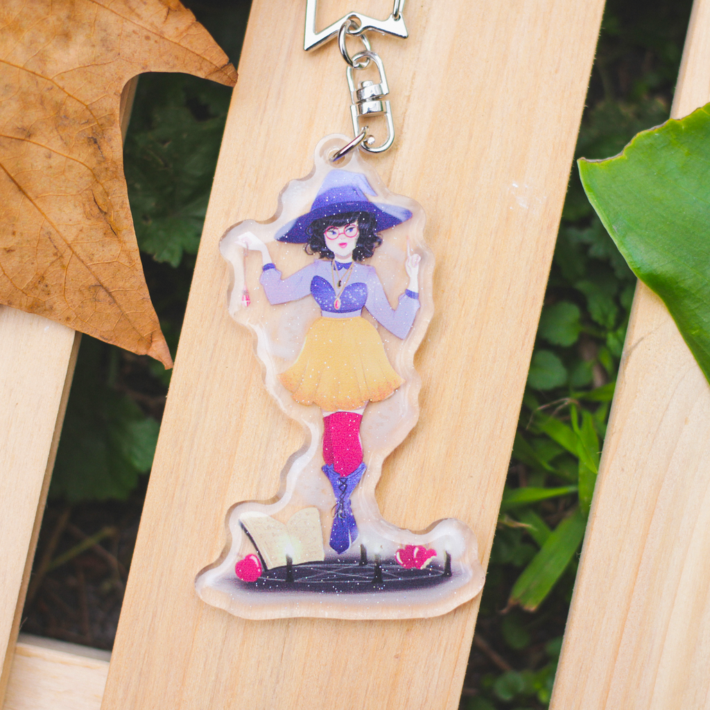 Apple Witch Glitter Charm