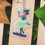 Frog Witch Glitter Charm