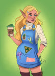Princess Zelda - A5 Art Print