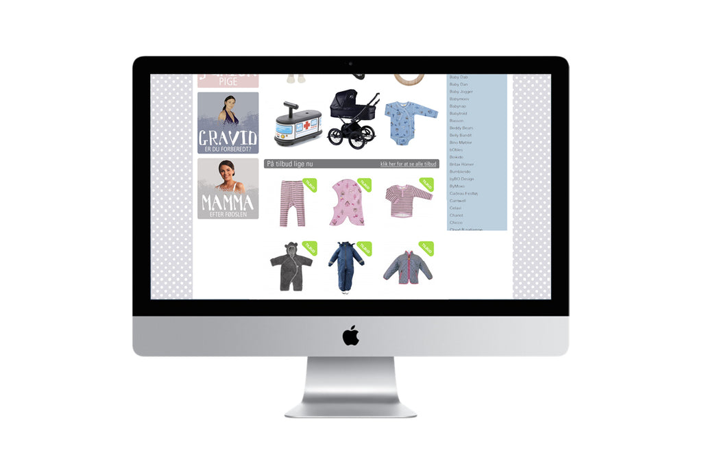 Babyhome redesign webshop grafisk design
