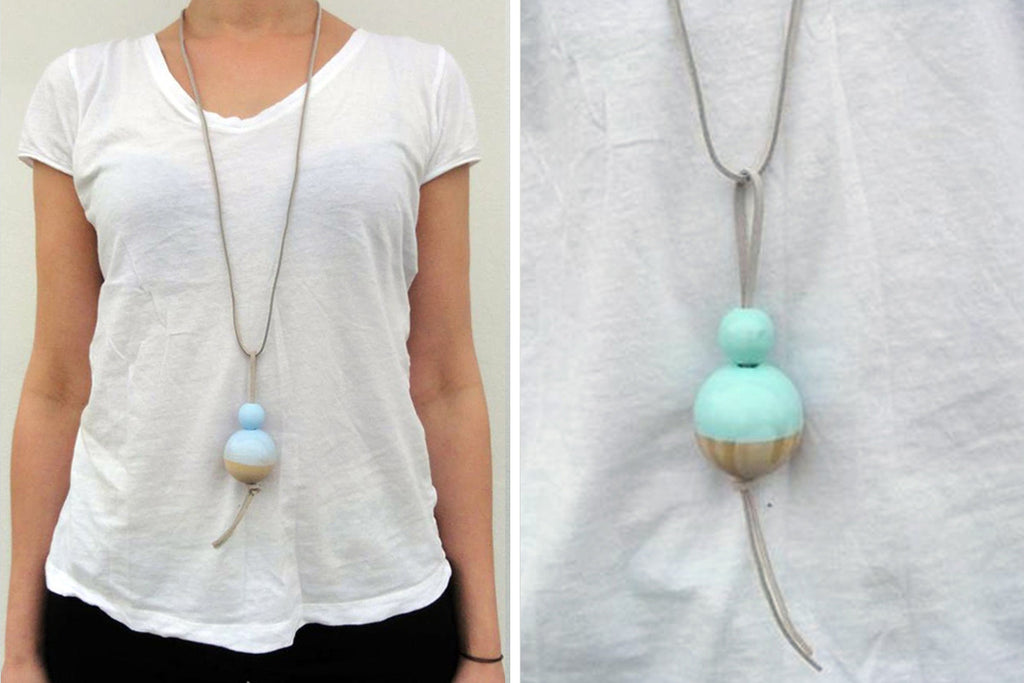 Ditte Maigaard Studio Buoy Necklace Wooden Jewellery Design