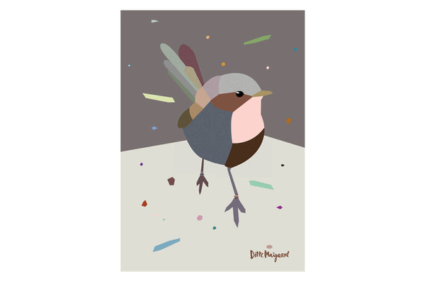 Birdie Poster Illustration Grafisk Design Ditte Maigaard Studio