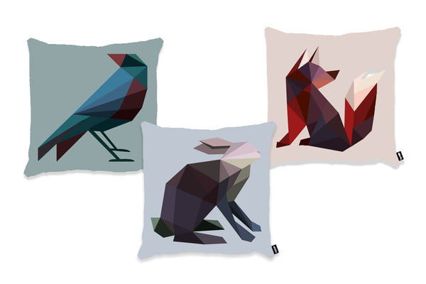 Ditte Maigaard Studio Textile Design Tekstil Home Interior Decor Cushion pude Mr Fox & Friends Kids