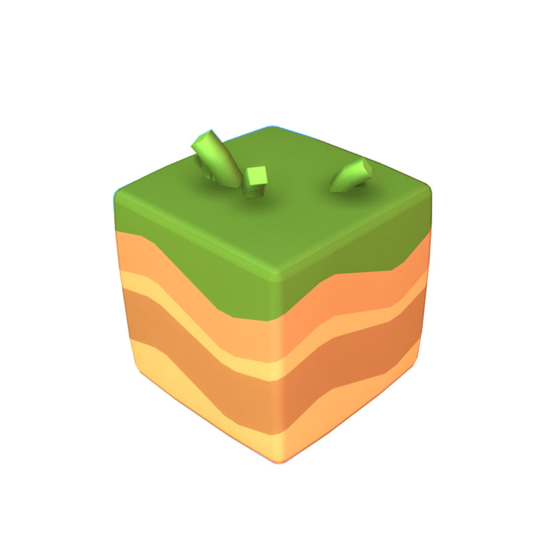 Cube World Ground Block - Proto Series