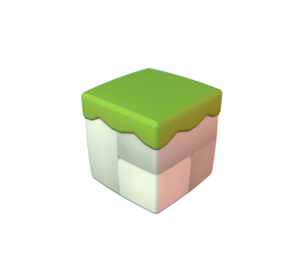 Cube World Stone Block - Proto Series