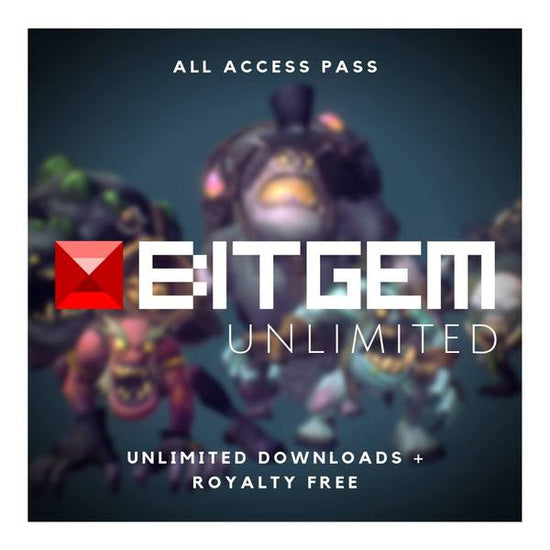 Low Poly 3D Models & Hand Painted Textures for Game Dev | Bitgem