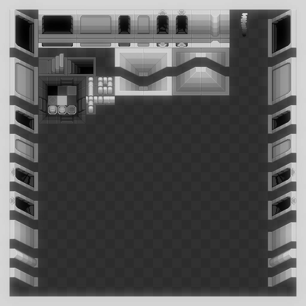 2D Environment - 16x16 Dungeon Level Template
