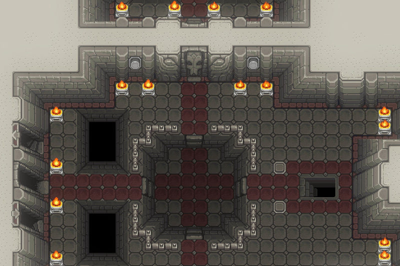 2D Pixel Dungeon Level Chip Set 01