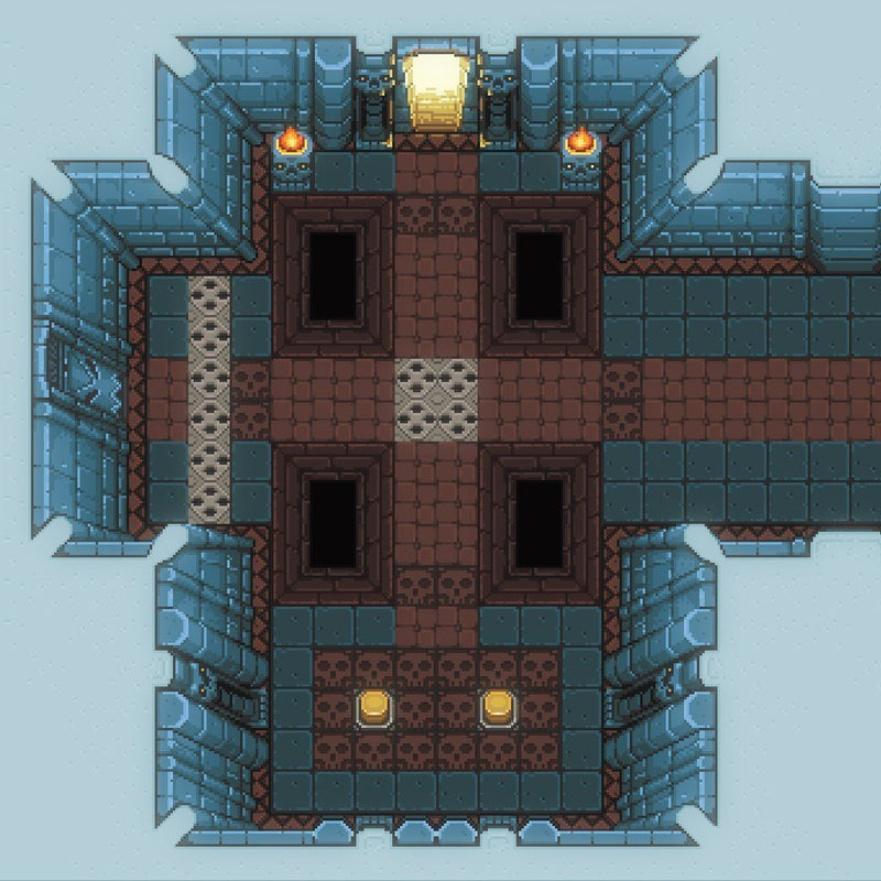 2D Environment - 2D Pixel Dungeon Level Chip Set 02