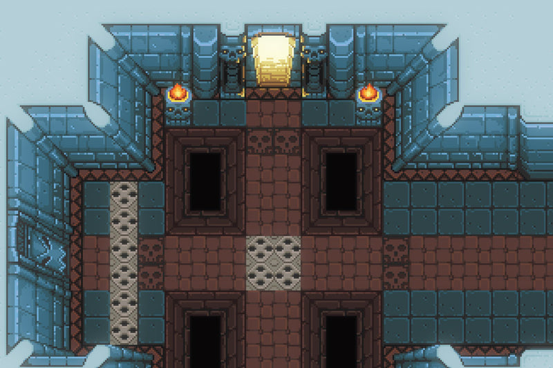 2D Pixel Dungeon Level Chip Set 02