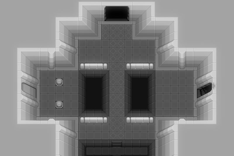 2D Pixel Dungeon Level Template