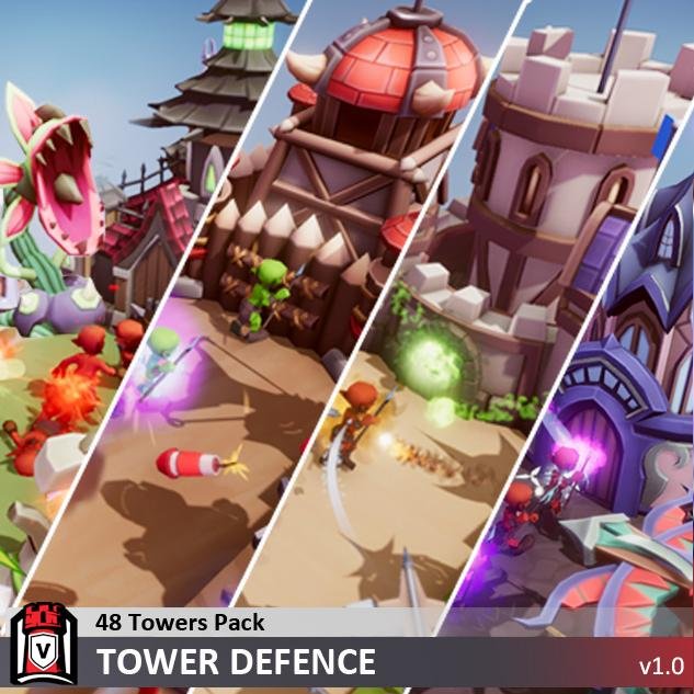 Buildings - 48 Towers Pack - Tower Defence