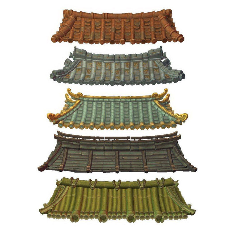 Buildings - Asian Modular Roof Set