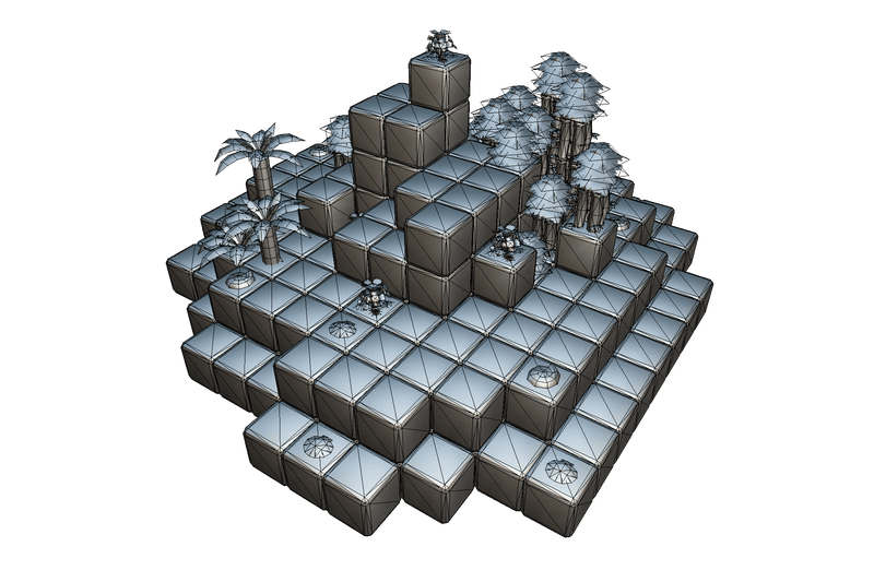 Buildings - Block World Level Set