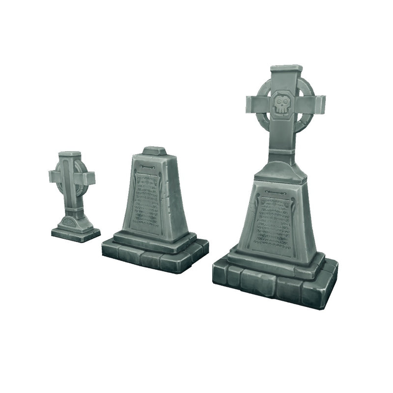 Buildings - Cemetery Starter Set - Low Poly 3D Model