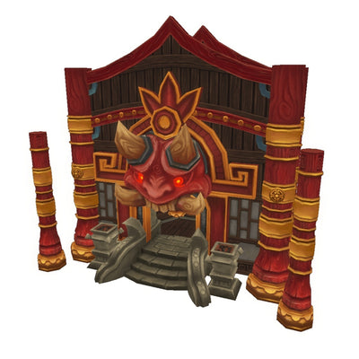 Buildings - Chinese Dojo Interior - Low Poly 3D Model