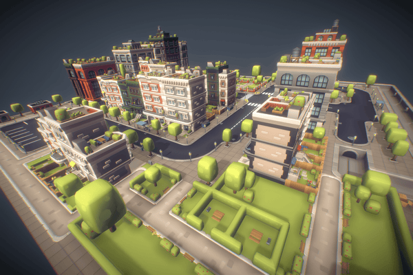 Buildings - City Set - Low Poly 3D - Proto Series