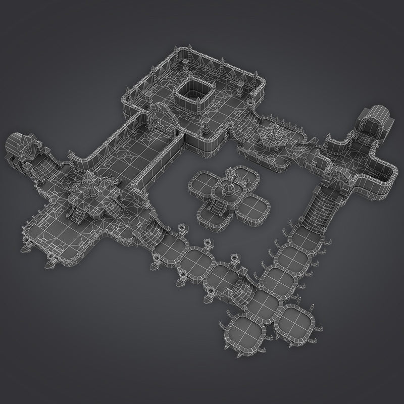 Buildings - Cloudy Dungeon Set