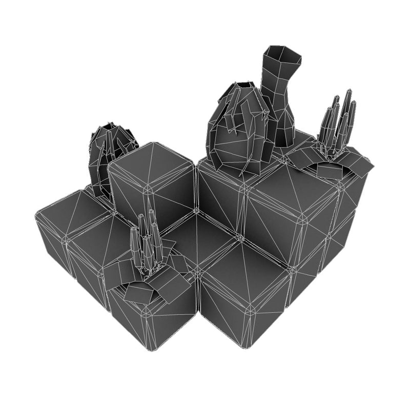 Buildings - Cube World Level Set - Low Poly 3D Model