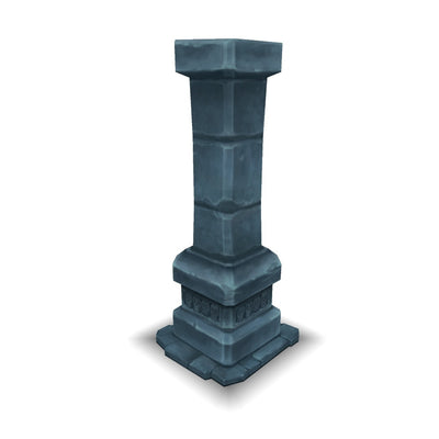 Buildings - Dungeon Pillar - Low Poly 3D Model