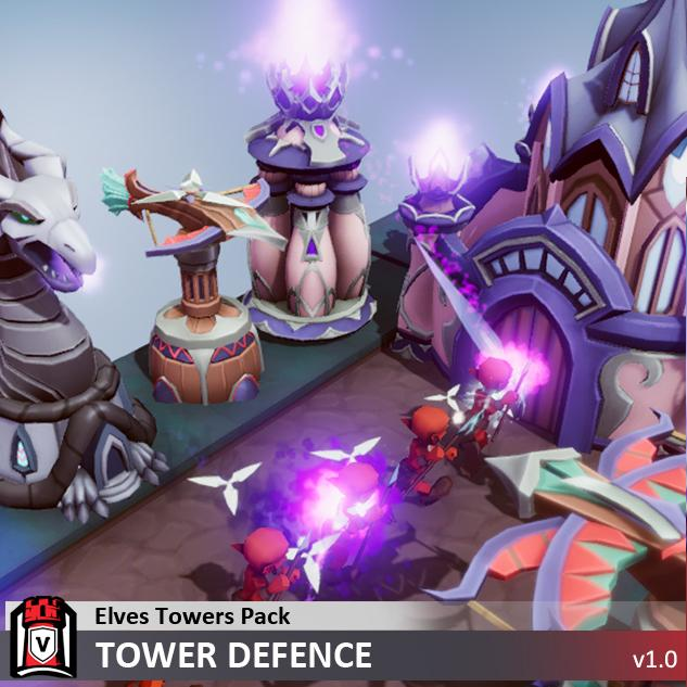 Buildings - Elves Towers Pack - Tower Defence