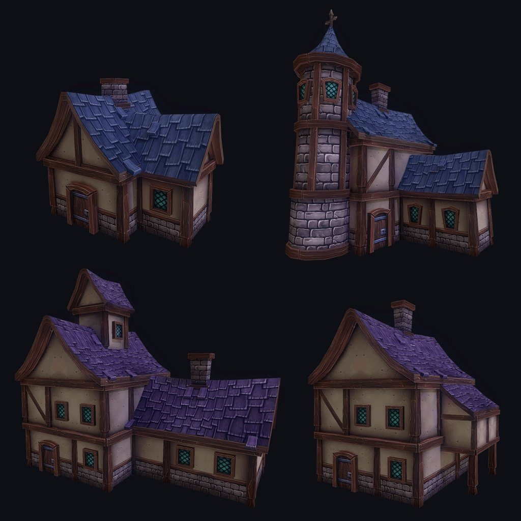 Buildings - Fantasy Building Kit - ZugZug Studio