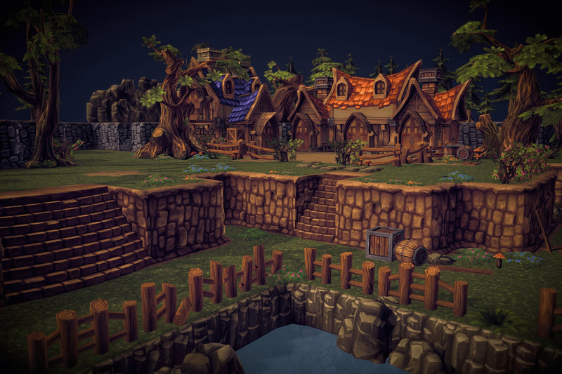 Buildings - Fantasy Level Set