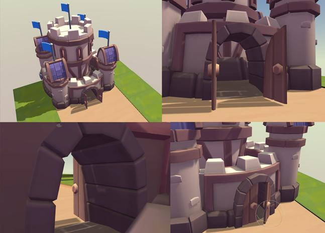 Buildings - Human Castle Portal Pack - Tower Defence