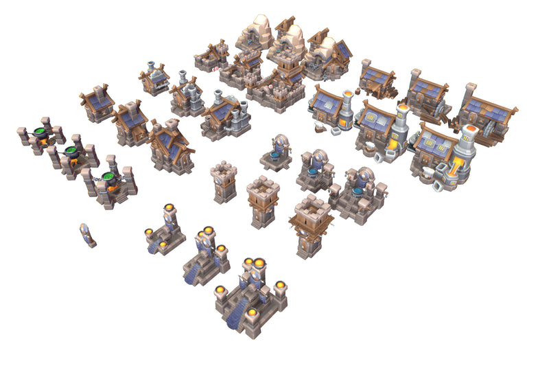 Buildings - Human RTS Building Set - Proto Series