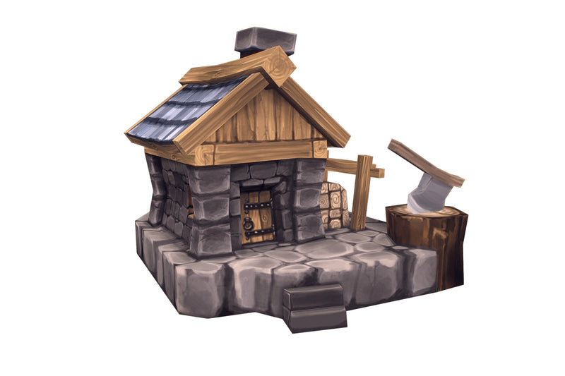 Buildings - Human RTS Buildings Low Poly