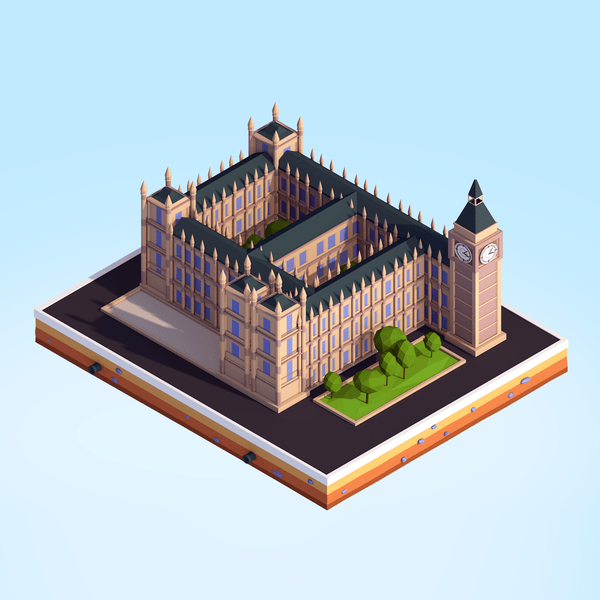 Buildings - Low Poly Big Ben - Anton Moek