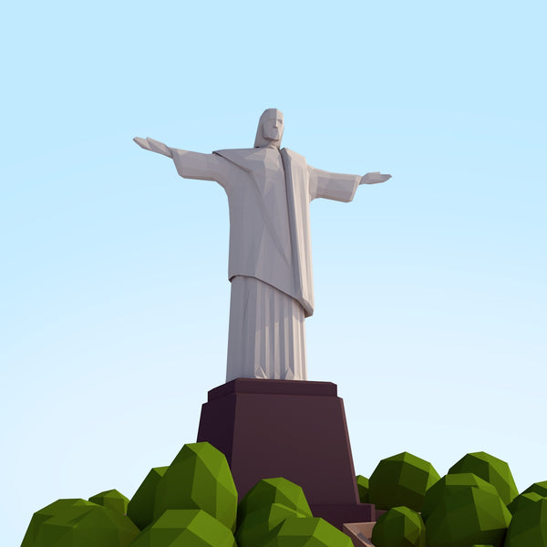 Buildings - Low Poly Christ Redeemer - Anton Moek