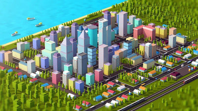 Buildings - LOW POLY CITY PACK 3 - ANTON MOEK