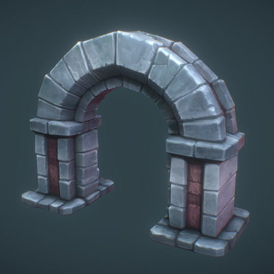 Buildings - Low Poly Dungeon Arch - Free Download