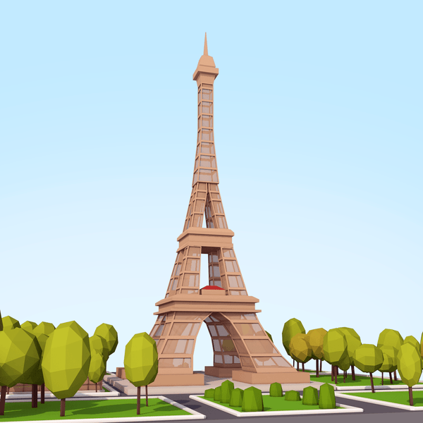 Buildings - Low Poly Eiffel Tower - Anton Moek
