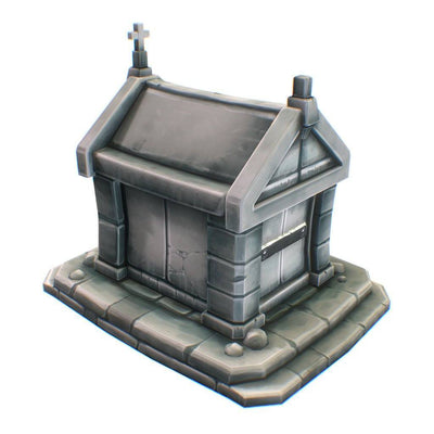 Buildings - Low Poly Hand Painted Stone Tomb - Free Download