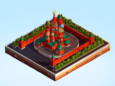 Buildings - Low Poly Kremlin - Anton Moek
