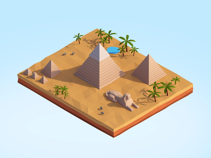 Buildings - Low Poly Pyramids - Anton Moek