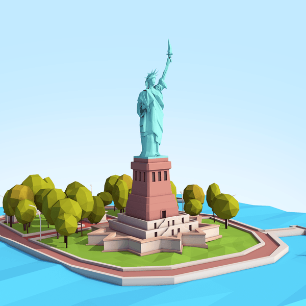Buildings - Low Poly Statue Of Liberty - Anton Moek