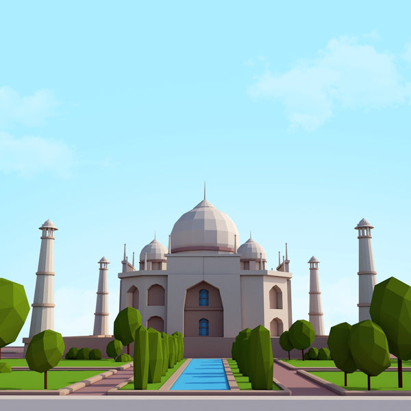 Buildings - Low Poly Tajmahal - Anton Moek