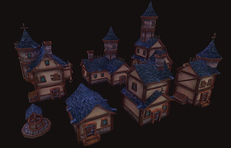 Buildings - Medieval RPG Village - ZugZug Studio