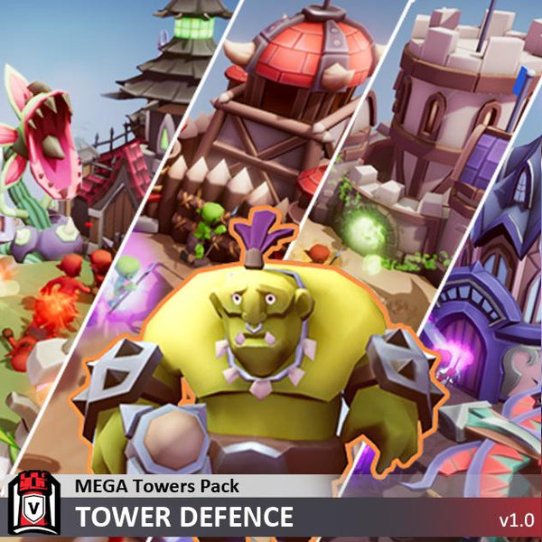 Buildings - Mega Towers Pack - Tower Defence